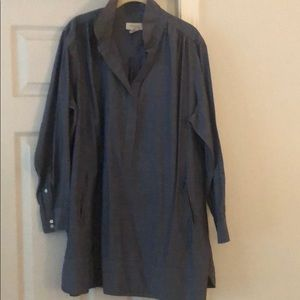 2x women's Denim tunic top with hidden pockets